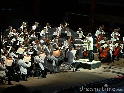 Colorado Symphony Orchestra at Red Rocks Editorial Photo