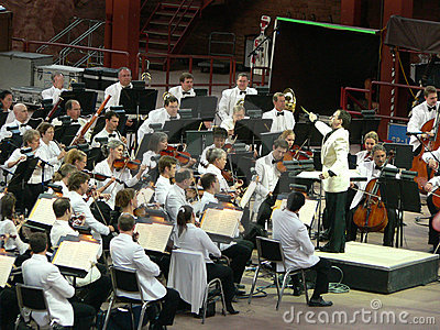 Colorado Symphony Orchestra at Red Rocks Editorial Stock Photo