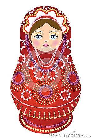 Colore rosso russo della bambola