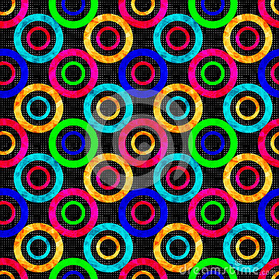 Free Colored Abstract Psychedelic Geometric Circles Seamless Pattern Vector Illustration Stock Photo - 61700660