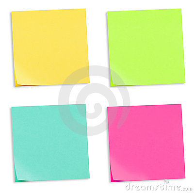 Colored Adhesive Note Papers
