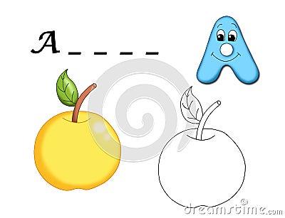 Colored alphabet - Á.