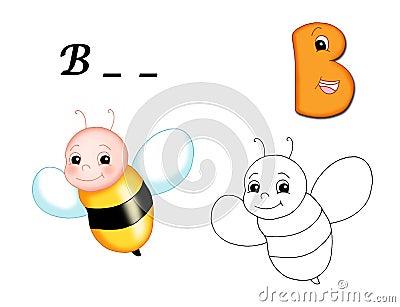 Colored alphabet - B