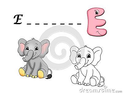 Colored alphabet - E