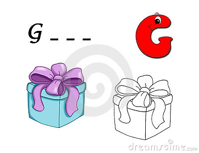 Colored alphabet - G