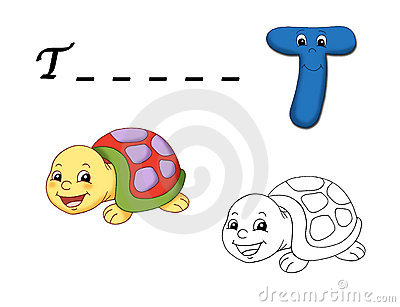 Colored alphabet - T