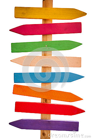 Free Colored Arrows Indicate Directions Stock Images - 27649424