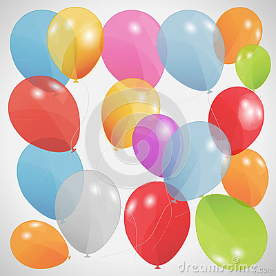 Colored balloons, vector illustration. Eps 10