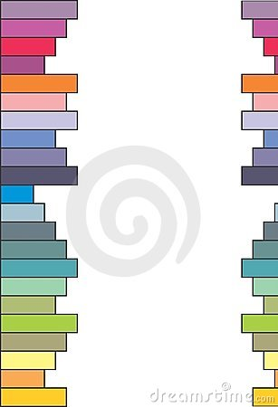 Colored bars - vector