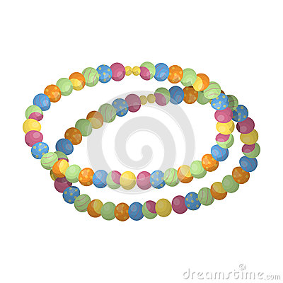 Free Colored Beads.Hippy Single Icon In Cartoon Style Rater,bitmap Symbol Stock Illustration Web. Stock Photography - 91849182