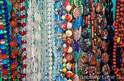 Colored beads showcase