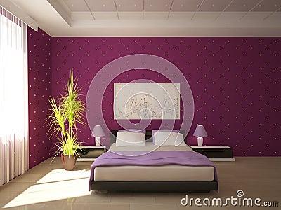 Colored bedroom design