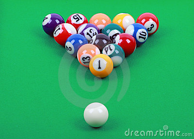 Colored billiard balls