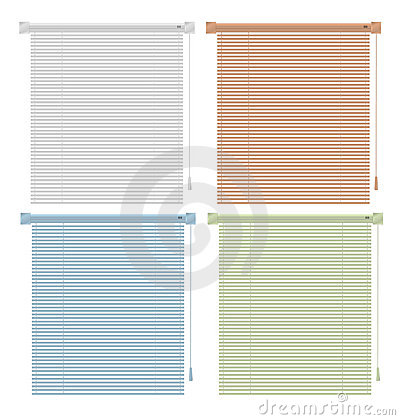 Free Colored Blinds Royalty Free Stock Photo - 12149525