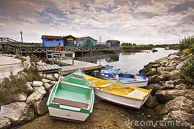 Colored Boats form Oleron
