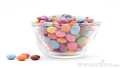 Colored bonbons