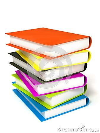 Colored books massive