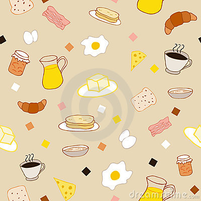 Colored breakfast theme