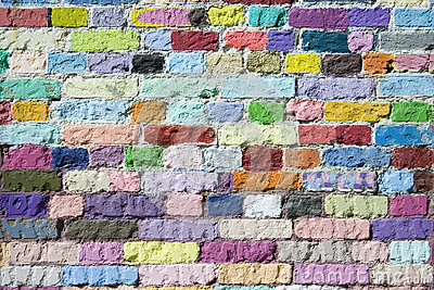 Colored bricks pattern