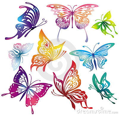 Free Colored Butterflies Stock Photos - 15275153