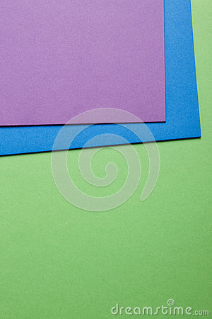 Colored carboards background in green blue purple tone. Copy spa Stock Photo