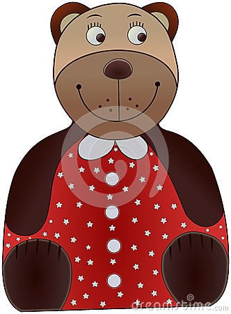 Colored cartoon bear