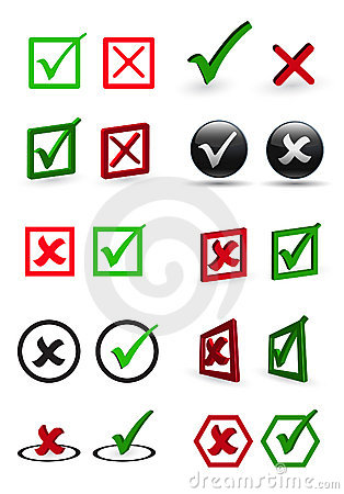Colored Check Box Stock Photography Image 11756522
