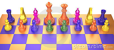 Colored chess game