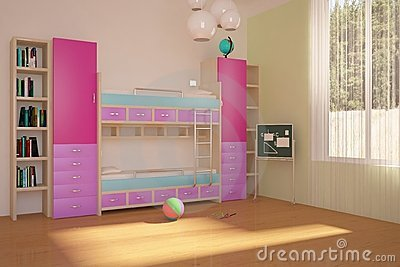 Colored children room