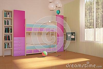 Colored children room