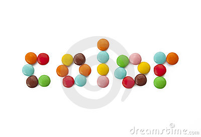 Colored chocolate candy - juicy politra colors