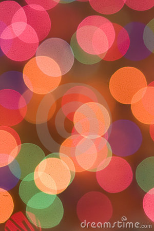 Colored Christmas lights, celebration background