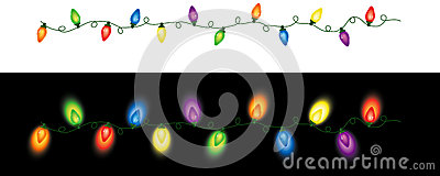 Colored Christmas Lights Repeating