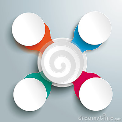 Infographic design on the grey background eps 10 vector file - Colored Circle Cross Infographic Piad Stock Photo Image