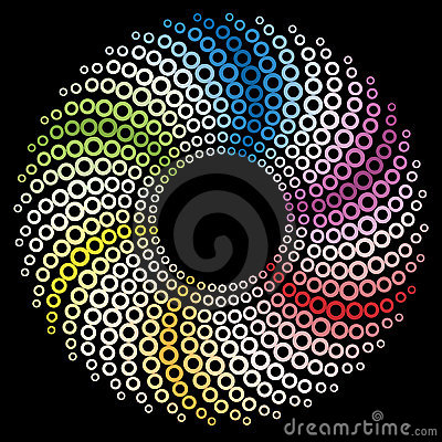 Colored circular design