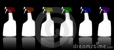 Colored Cleaning Bottles