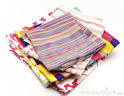 Colored cloth napkins