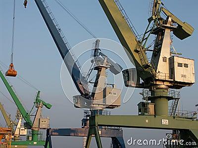 Colored cranes 1