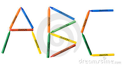 Colored Crayons ABC