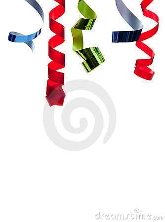 Free Colored Curly Ribbon In Front Of White Stock Image - 11815831