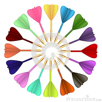 Colored darts