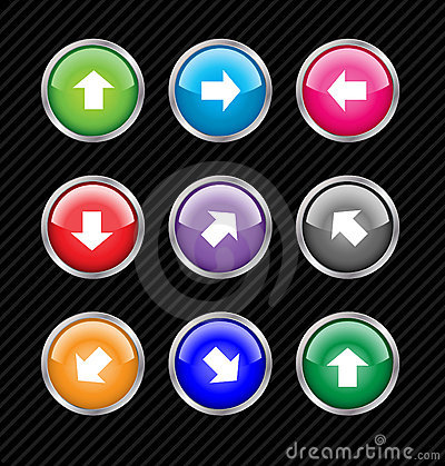 Colored direction buttons.
