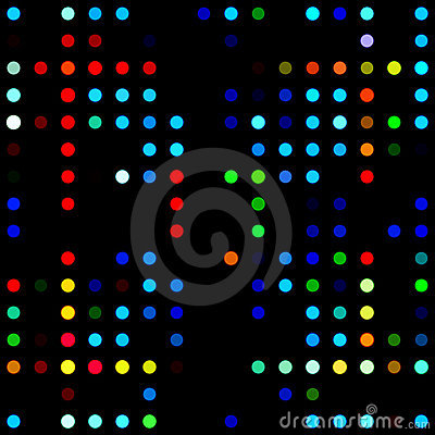Colored dot mosaic