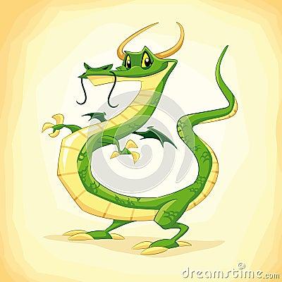 Colored dragon.
