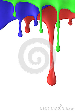 Colored dripping