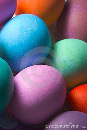Free Colored Easter Eggs Royalty Free Stock Photography - 85537