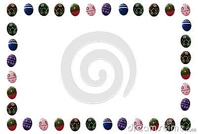 Colored Easter eggs frame