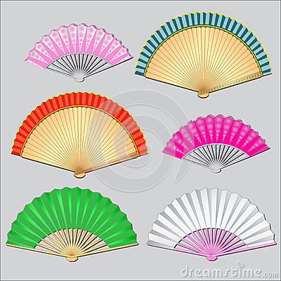 Colored fan