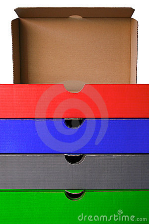 Free Colored Filing Boxes Stock Photos - 1549793