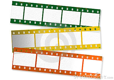 Colored film strips